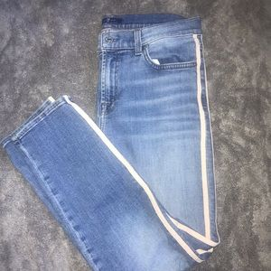 7 For All ManKind Light Blue Skinny Jeans Size 29